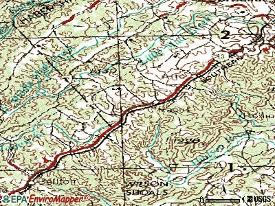 Raoul topographic map