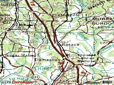 Resaca topographic map
