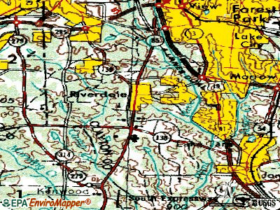 Riverdale topographic map