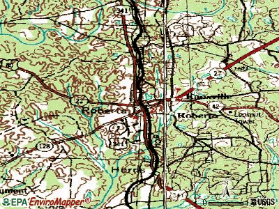 Roberta topographic map
