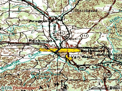 Rockmart topographic map