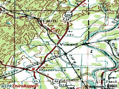 Vincent topographic map