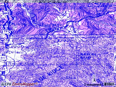 Sky Valley topographic map