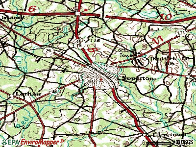 Soperton topographic map