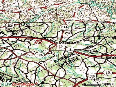 Statham topographic map