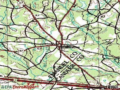 Stillmore topographic map