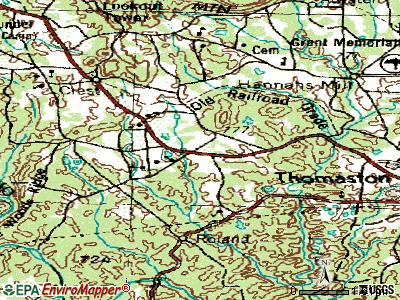 Sunset Village topographic map