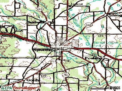 Sylvester topographic map