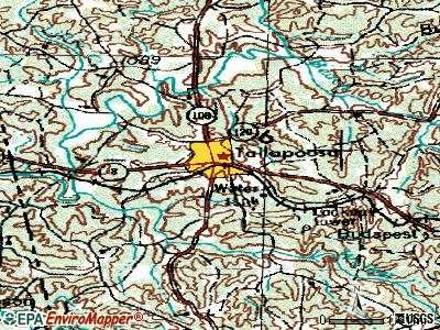Tallapoosa topographic map
