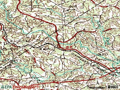 Talmo topographic map