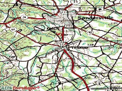 Tennille topographic map