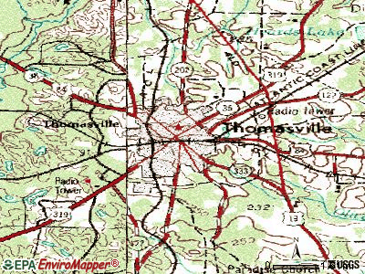 Thomasville topographic map