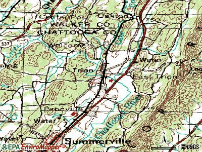 Trion topographic map
