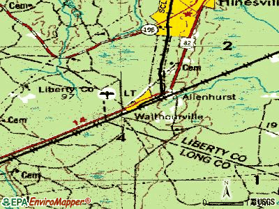 Walthourville topographic map