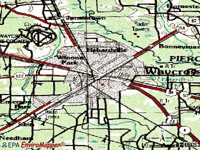 Waycross topographic map