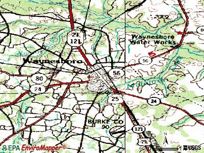 Waynesboro topographic map