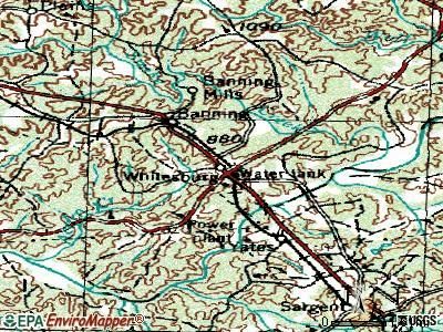Whitesburg topographic map