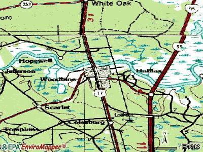 Woodbine topographic map