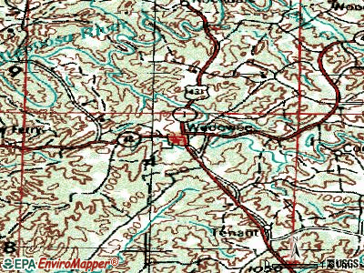 West End-Cobb Town topographic map