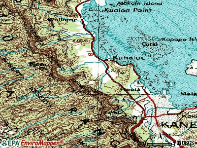 Ahuimanu topographic map