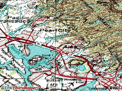 Aiea topographic map