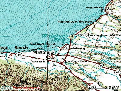 Haleiwa topographic map