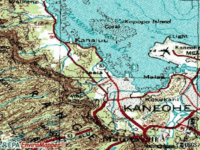 Heeia topographic map