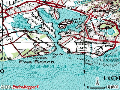 Holualoa topographic map