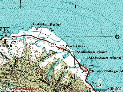 Kahuku topographic map