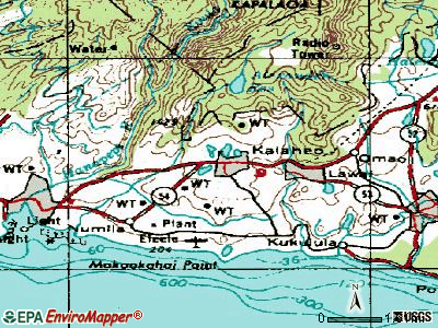 Kalaheo topographic map