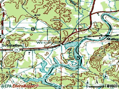 Wilton topographic map