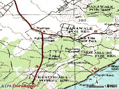 Leilani Estates topographic map
