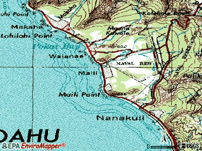 Maili topographic map