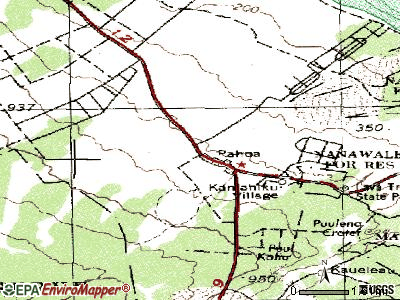 Pahoa topographic map