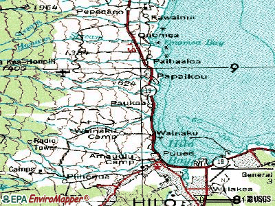 Paukaa topographic map