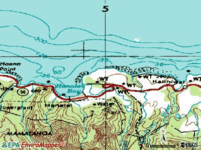 Princeville topographic map