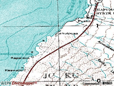 Puako topographic map