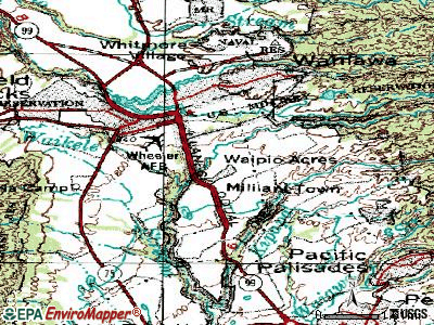 Waipio Acres topographic map