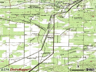 Athol topographic map