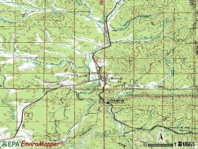 Bovill topographic map