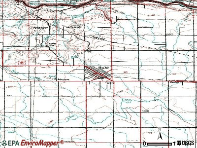 Buhl topographic map