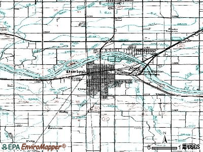 Burley topographic map