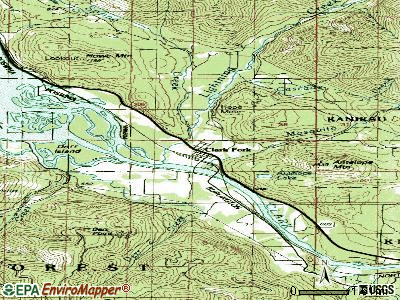 Clark Fork topographic map