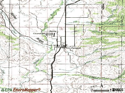 Council topographic map