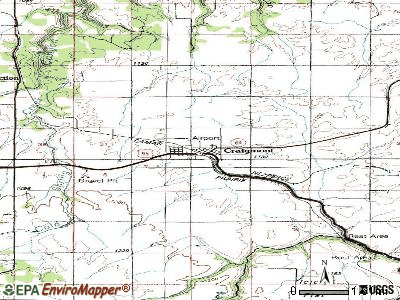 Craigmont topographic map