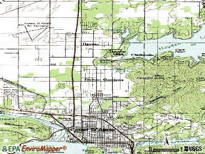 Dalton Gardens topographic map