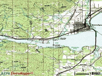 Downey topographic map