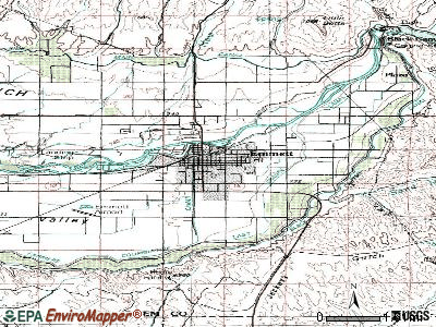 Emmett topographic map