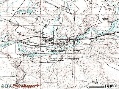 Glenns Ferry topographic map