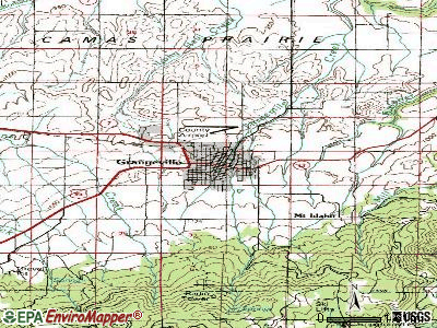 Grangeville topographic map